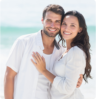 happy couple smiling after skin care services at Vanguard Skin Specialists