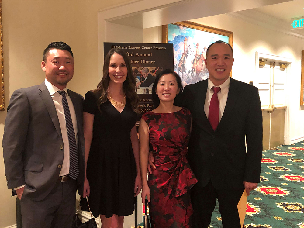 Dr. Chung, Dr. Sheron, and their spouses at the Children's Literacy Center Dinner.