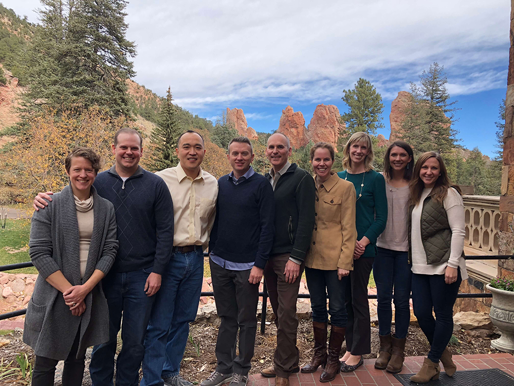 Provider team lunch on a beautiful Colorado day.