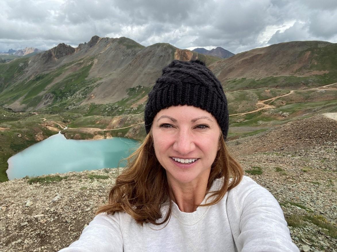 Lauren enjoys hiking the great outdoors.