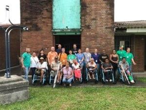 Patients receiving wheelchairs