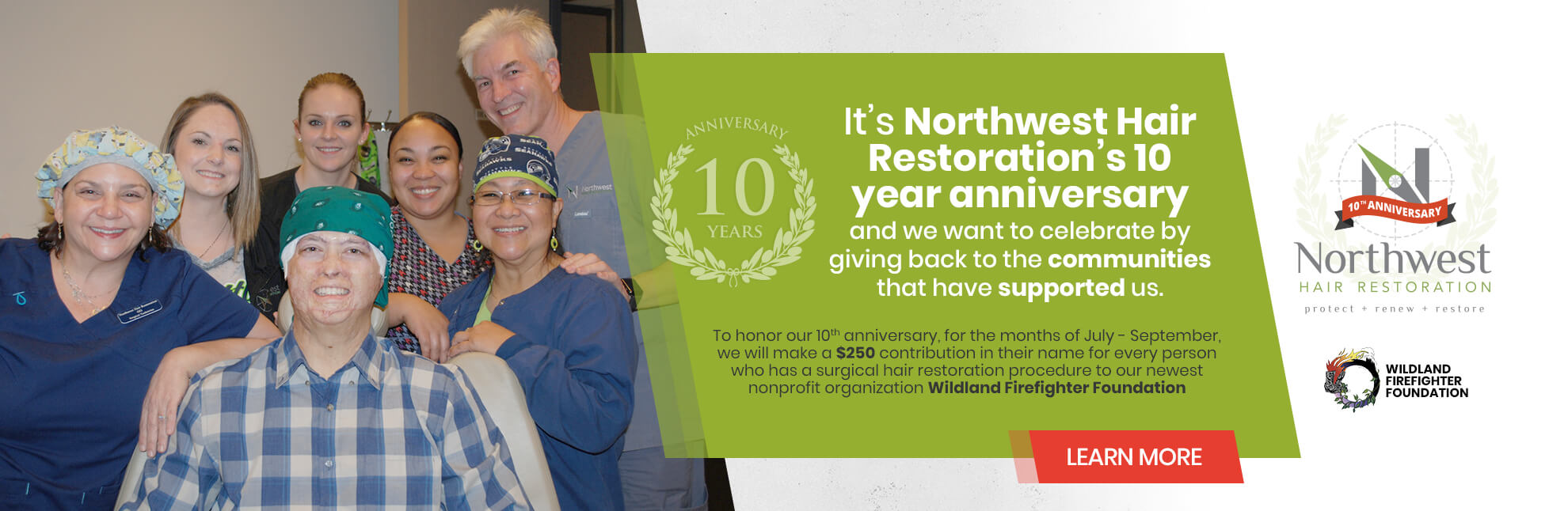 Northwest Hair Celebrating 10 Years of Charitable Work!