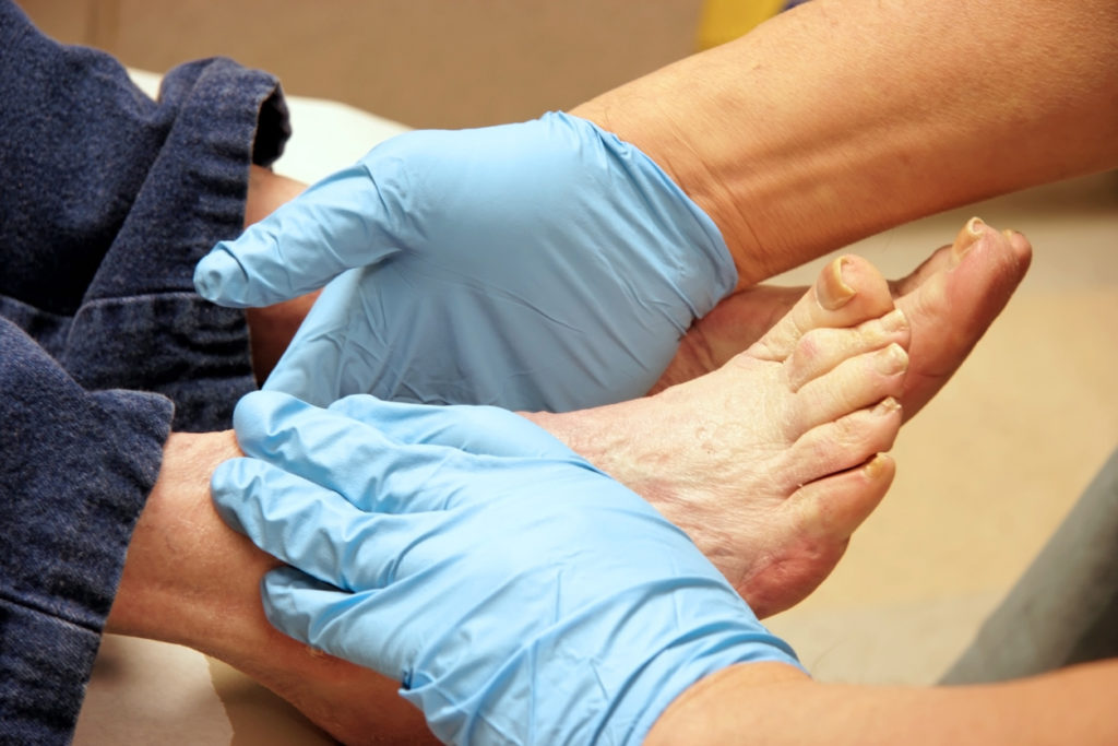 working with podiatrist