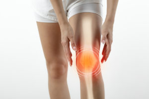 Person with knee pain