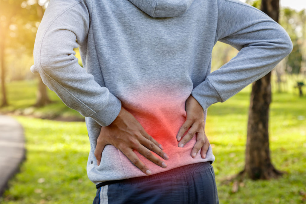 Runner with lower back pain
