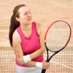 tennis woman player injured