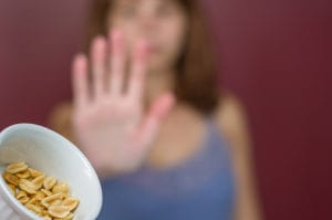 Food Allergy and Food Intolerance Difference - Great concept of food allergy