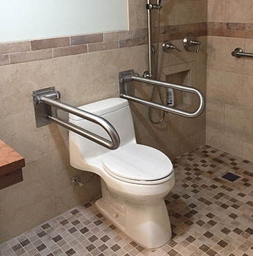 Handicap Bathroom - Live In Place - Mobility & Accessibility Solutions - Grab bars - handicap showers