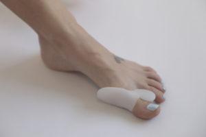 Big toe in a splint
