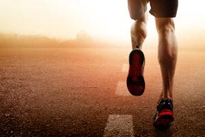 Runner with heel pain