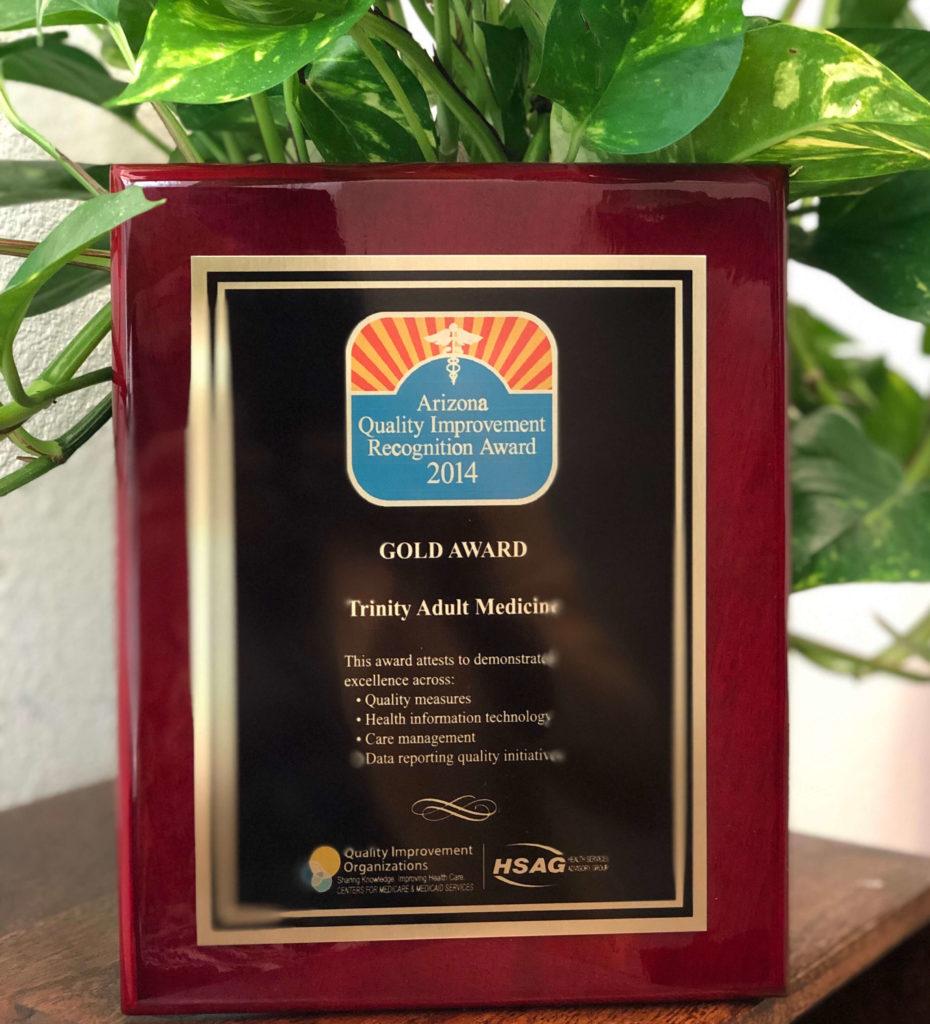 Testimonials - Trinity Integrated Medicine - Award
