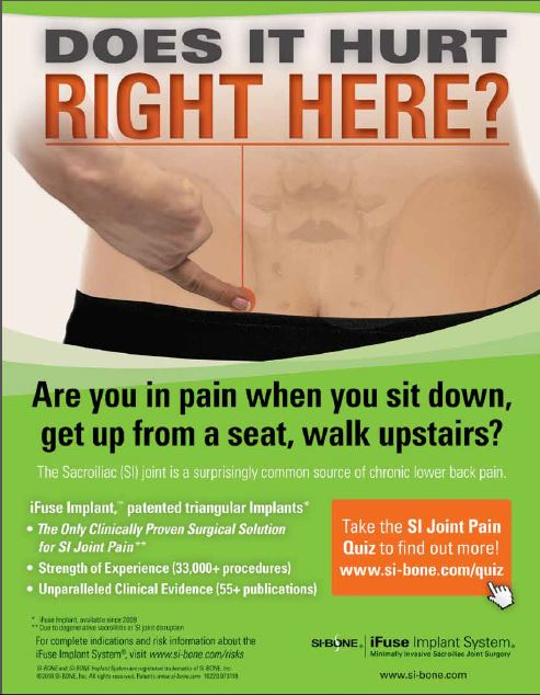 SI Joint Pain - Sacroiliac Joint Pain Treatments - Missoula Bone & Joint - Dr. Michael Woods - Western Montana