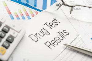 Drug test results