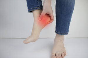 Person with heel pain