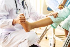 Doctor examining a foot