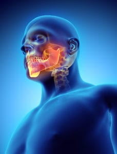 3D illustration of Mandible, medical concept.