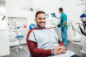 Man visiting the dentist