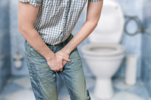 Man with urinary incontinence