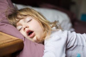Child with sleep apnea