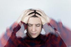 Man feeling dizzy