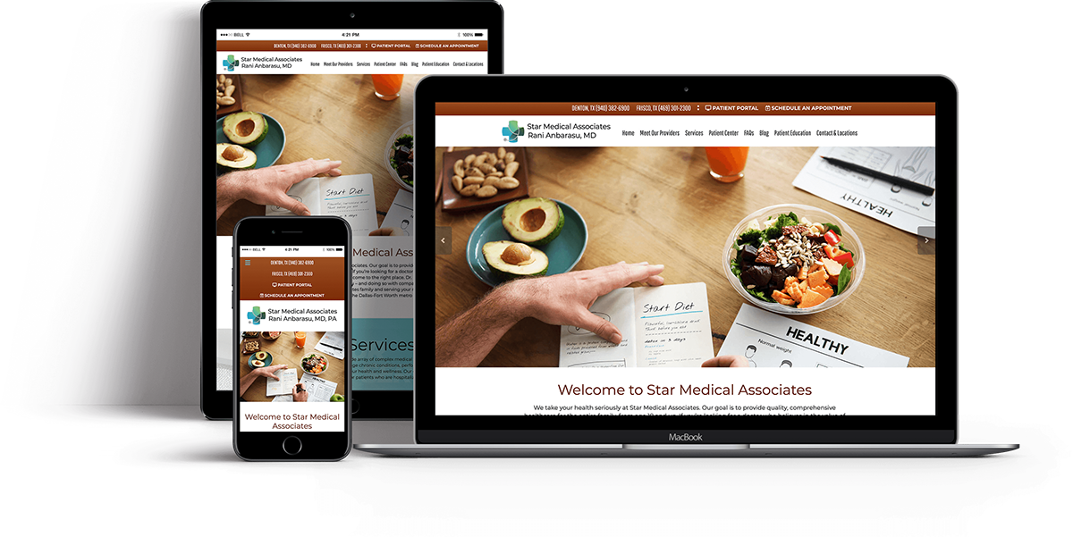 Website Design for OBGYN - Internal Medicine - iHealthSpot Interactive - healthcare digital marketing