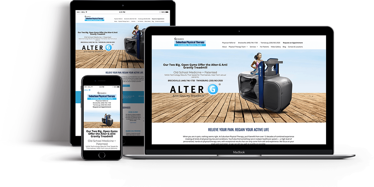 Website Design for OBGYN - Websites for Physical Therapy  - iHealthSpot Interactive - healthcare digital marketing
