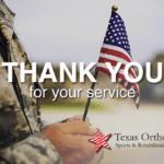 Texas Orthopedics Honors Veterans Day 2018